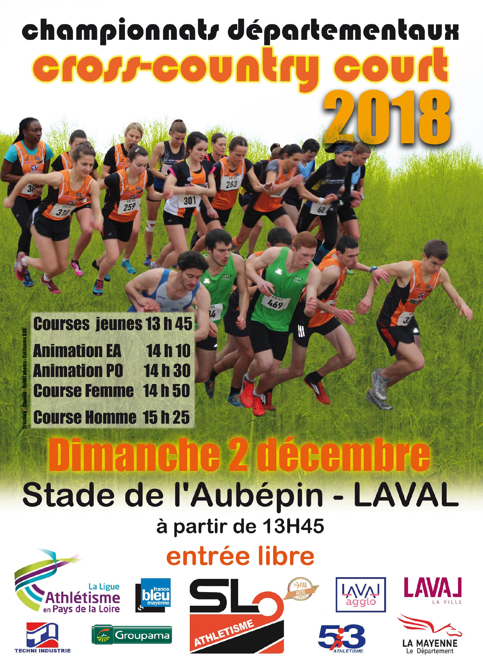 Affiche Dptx Cross court SLA 2018 en 1500